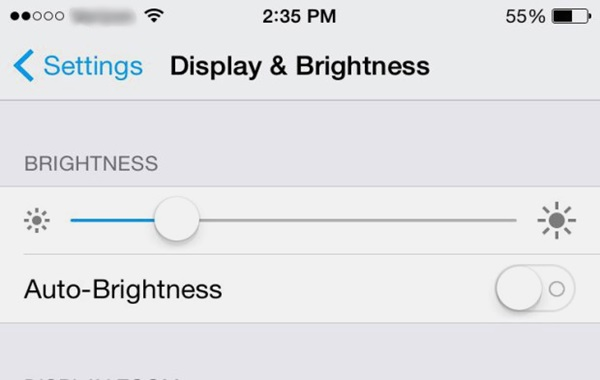 screen brightness