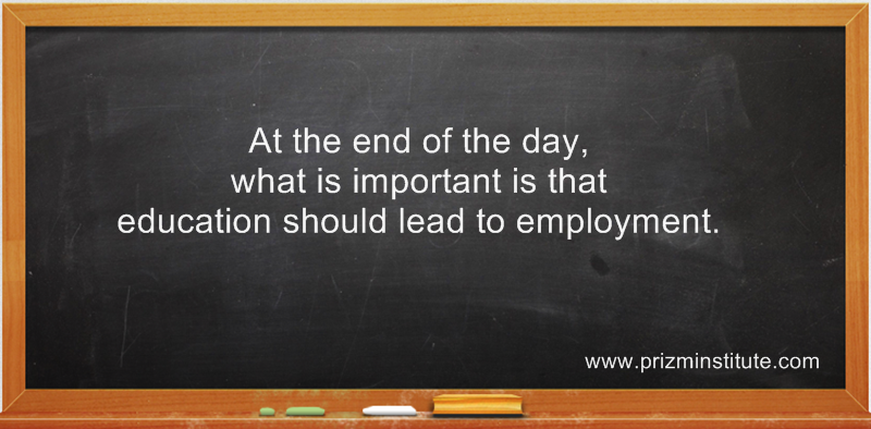 education should lead to employment
