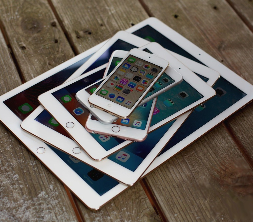 smartphones, phablets and tablets