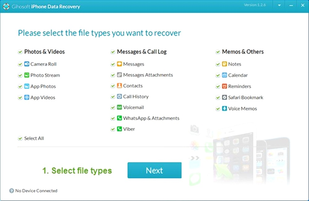 Gihosoft iPhone Data Recovery Free Software