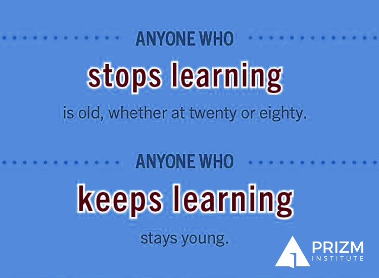 anyone who stops learning is old, whether twenty or eighty; Anyone who keeps learning stays young quote